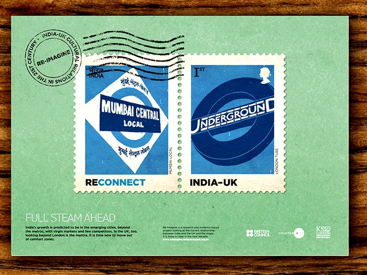 Reimagine India UK relationship, Stamps, India, Nh1design
