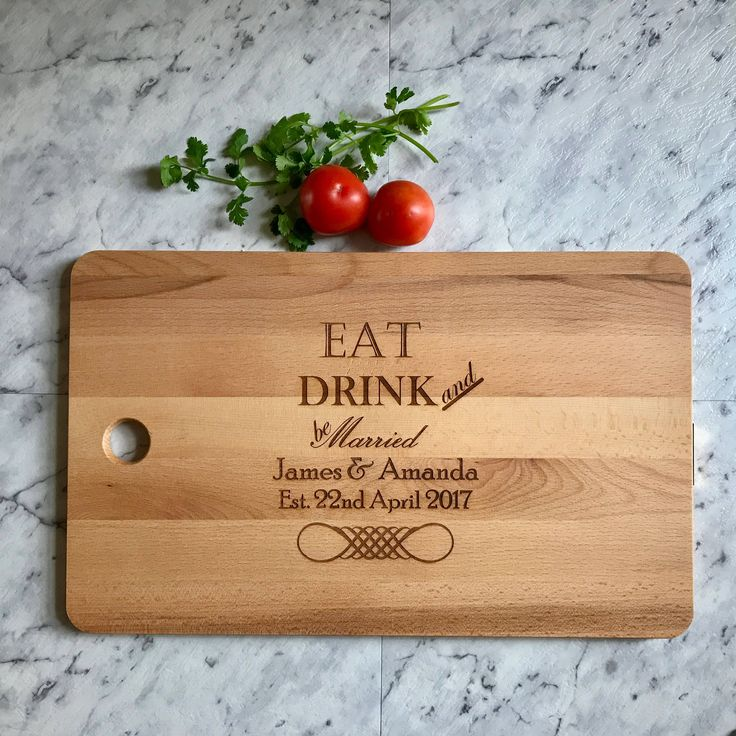 Large Engraved Chopping Board for Wedding Anniversary or Mothers Day Gift