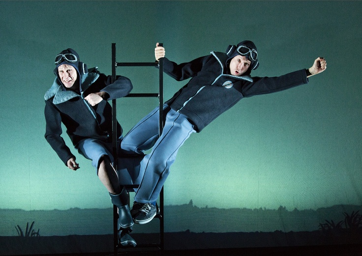 """If only..."" (2013) - a Teater Hund production. Here: Uffe (Robert Reinhold) og Frede (Bo Carlsson). Photo: Malle Madsen"