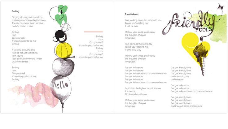 Illustration for tracks: 'Smiling' and 'Friendly Fools' Album: Friendly Fools by Marjit Vinjerui