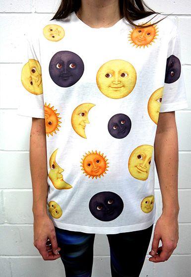 sun & moon emoji shirt