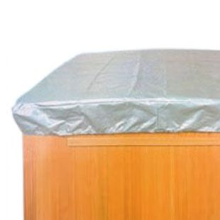 The Hot Tub Cover Cap protects your spa or hot tub cover from harsh weather conditions.