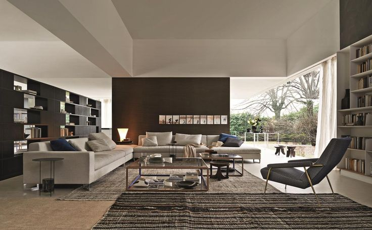 In a modern living room, neutral tones and a hint of design   @moltenidada This living room becomes a real fantasy land, read more on Designbest Magazine --> http://magazine.designbest.com/en/inspiration/living/in-soggiorno-tocchi-blu/?utm_source=pinterest&utm_medium=in-soggiorno-tocchi-blu&utm_campaign=SOCIAL-activities
