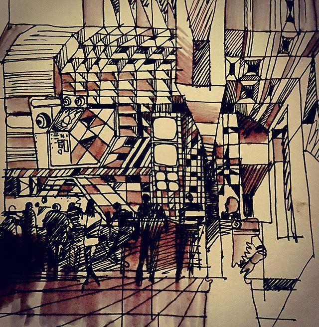 #artwork #art #fantasty #fantastisk #futuristic #cosmic #cosmos #interior #drawing #illustration #verevkin