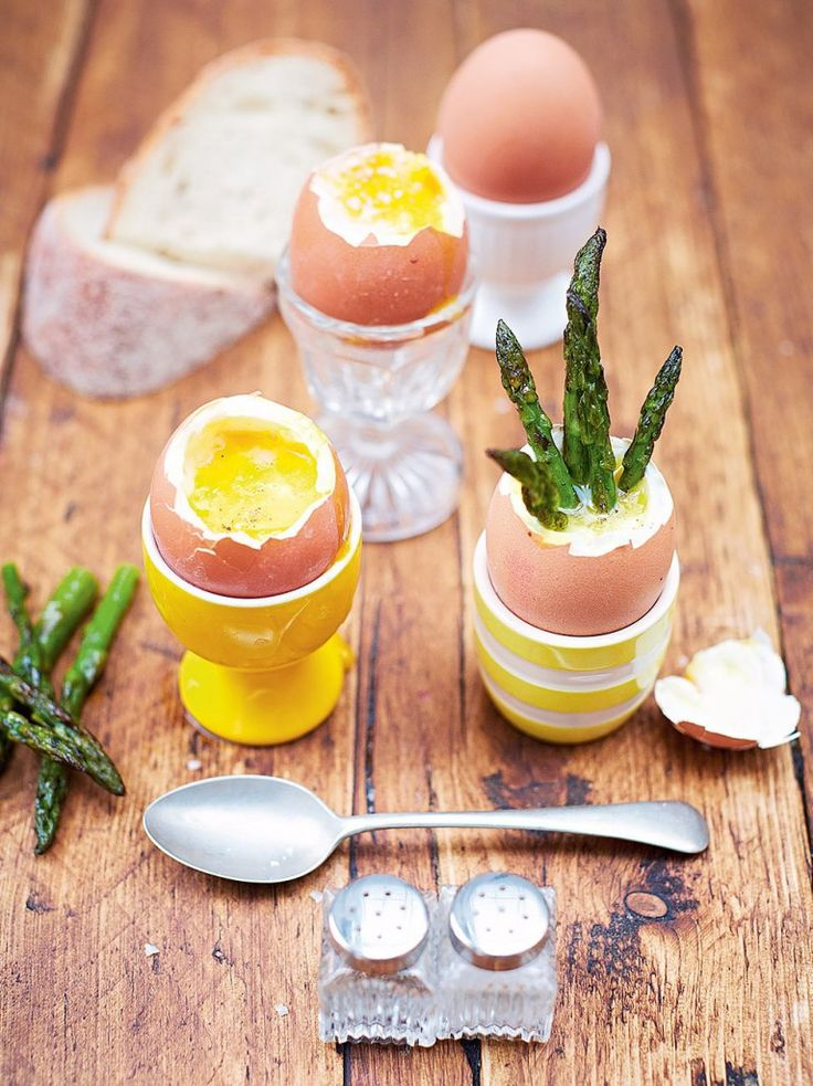 "Kerryann's dippy eggs & asparagus soldiers ""This is delicious, easy to make and really fun to eat – kids love it! """