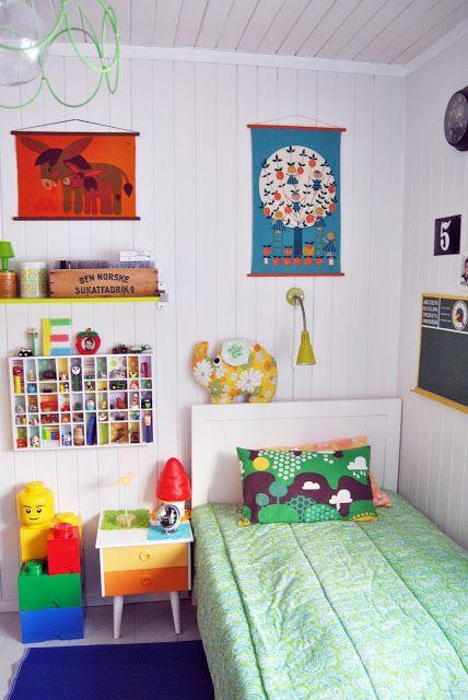 colourful children's room  retro kids room
