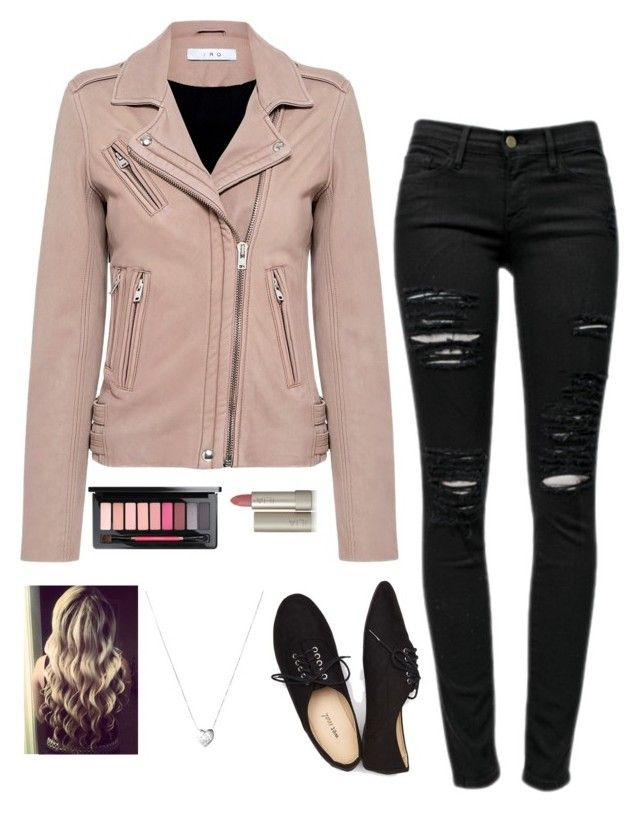 """Pink Ladies Costume"" by azarfoss on Polyvore featuring IRO, Frame, Wet Seal, Links of London, Ilia and MAC Cosmetics"