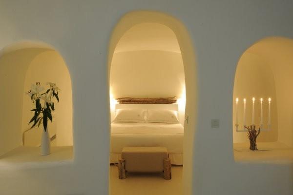 Hotel Mystique, Oia, Santorini, Greece - Spiritual Suite bedroom #hotels #Santorini