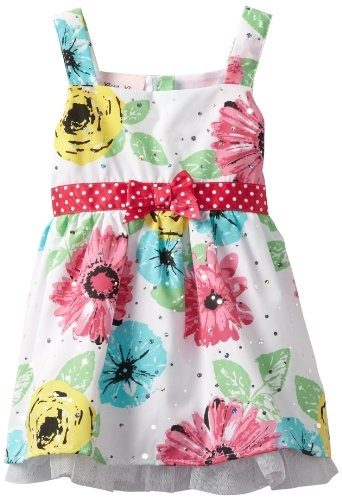Little Lass Baby-girls Infant 1 Piece Woven Dress - http://www.rainbowclothingstore.org/little-lass-baby-girls-infant-1-piece-woven-dress/
