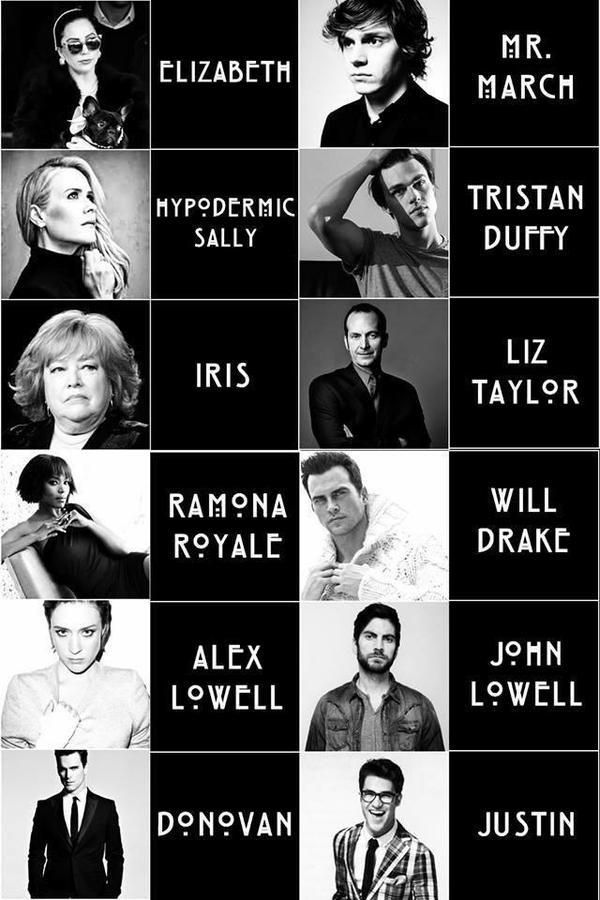 American Horror Story Hotel character names #AHS yes! Finn will be in this one! There's no way he couldn't after his performance as Dandy in Freak Show