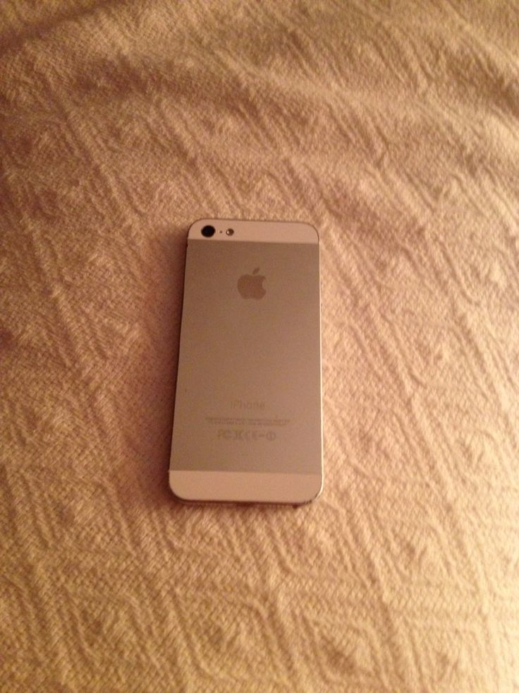 The back of my IPhone 5