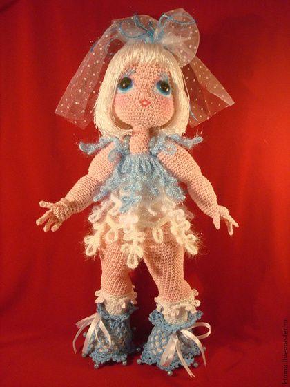 МК сНеженка. Авторское описание - белый,голубой,снежинка,снежная девочка