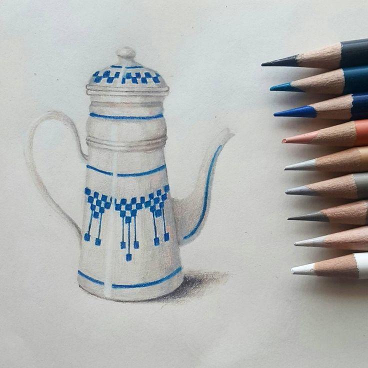 """좋아요 65개, 댓글 19개 - Instagram의 Youyeong.Seo(@blibla_art)님: """". #doodle #doodling #teapot #북유럽풍 #주전자 #끄적끄적 #색연필 #색연필드로잉 #색연필일러스트 #coloredpencils #colorpencils…"""""""