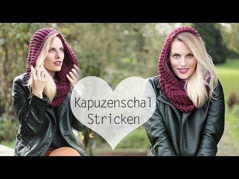 Kapuzenschal Stricken für Anfänger I TheBuchFreundin - YouTube