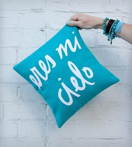 Eres Mi Cielo Pillow - Teal by Bright July on Scoutmob Shoppe