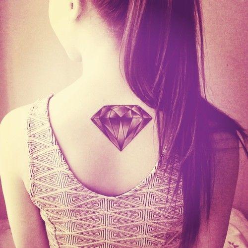 45 Exuberant Diamond Tattoos for Wealth and Invincibility