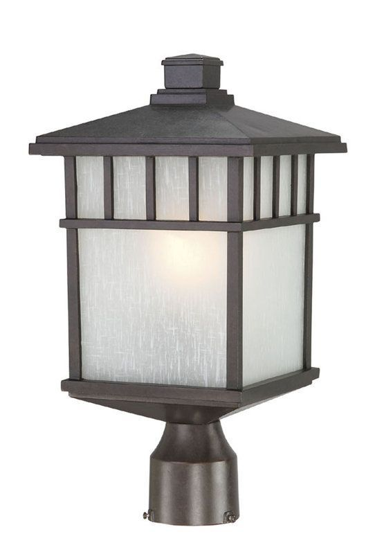 Dolan Designs 9116 Craftsman / Mission Single Light Small Outdoor Post Light fro Olde World Iron Outdoor Lighting Post Lights Post Lights
