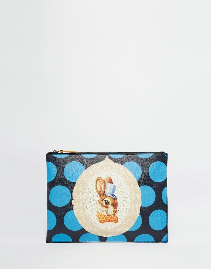 Image 1 of Vivienne Westwood Clutch Bag with Bunny Rabbit in Blue