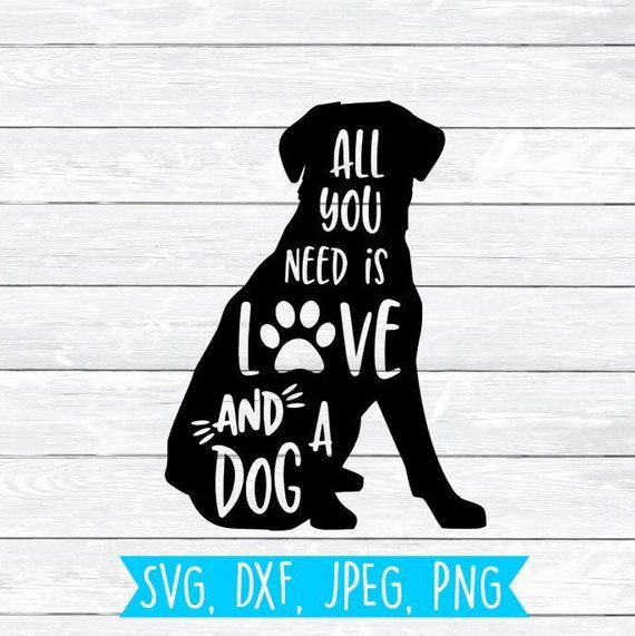 Download All you need is Love and a dog Labrador Svg Dog Svg Paw ...