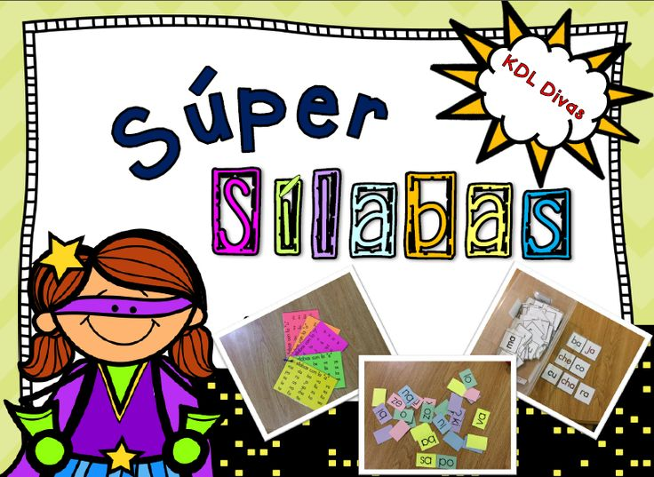 Syllable unit designed for dual language teachers to help their students read and blends syllables.
