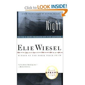 Night.  This book is amazing!: Worth Reading, Book Club, Must Reading, Amazing Book, Favorite Book, Concentration Camps, Elie Wiesel, Good Book, High Schools