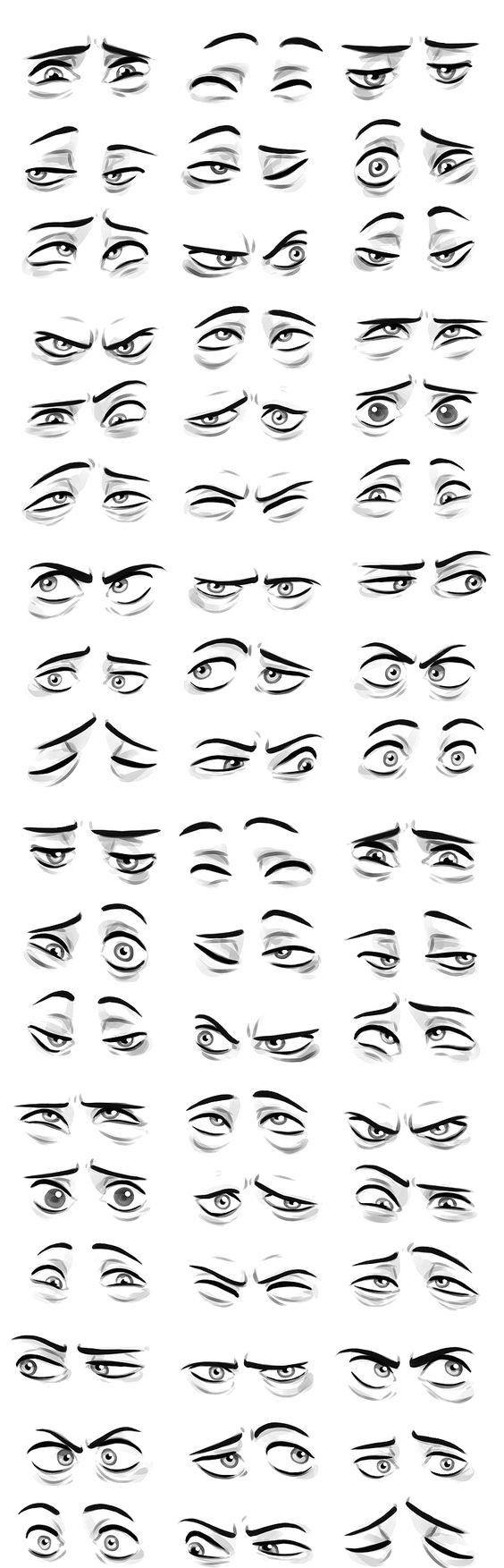 Глаза и эмоциональное состояние человек, взгляд, эмоции, рисунок, длиннопост