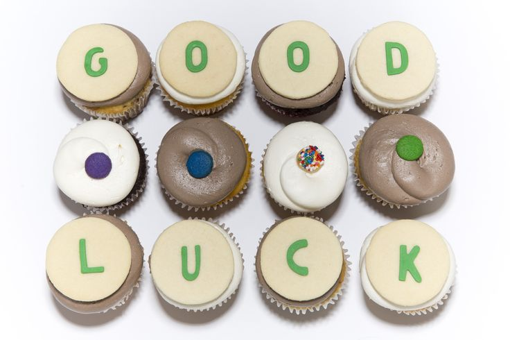 Wishing someone good luck never tasted so good. Send your well-wishes with our special message cupcakes. #DuffsCakemix #cupcakes #goodluck #yum