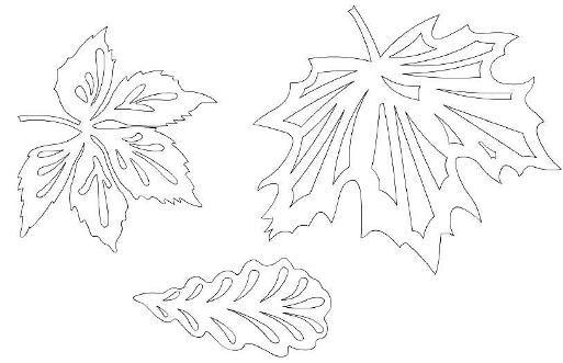 Осінні витинанки (шаблони, малюнки)