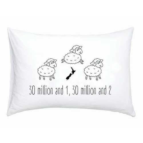 Counting New Zealand Sheep Single Pillowcase