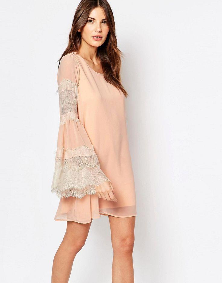 Vila+Lace+Insert+Swing+Dress