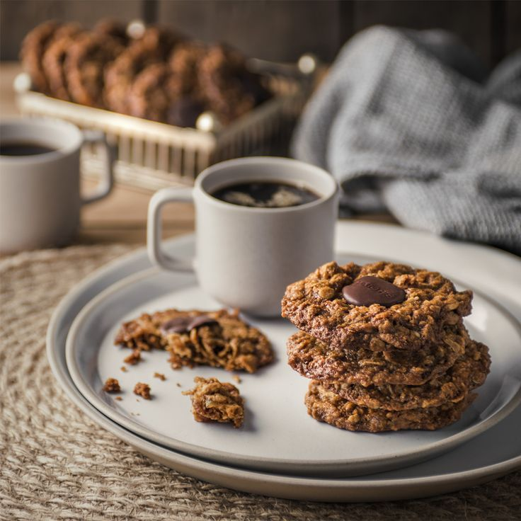 Create these delicious Chocolate, Oat and Ginger biscuits with Haigh's Dark Chocolate Pastilles.