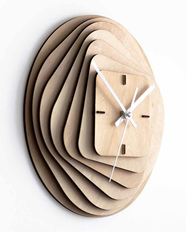 Clever clock made from 11 laser cut 3mm