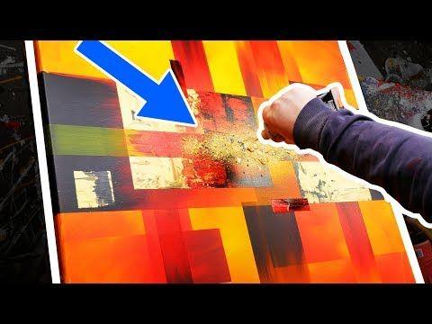 Comment Faire Une Peinture Abstraite Aux Couleurs Très Lumineuses | Solar Blast | John Beckley - YouTube