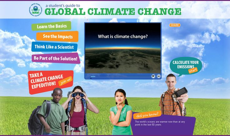 A Student's Guide to Global Climate Change (website) Offers information, resources & tips to students about climate change issues, as well as resources for educators.