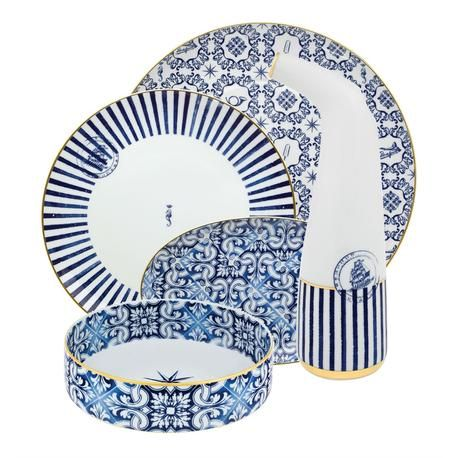 Foto Dishes service 70 pieces Vista Alegre Collection Transatlantica