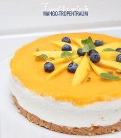 Frischkäsetorte Mangotraum , kuchen ohne backen , sommer , frucht , früchte