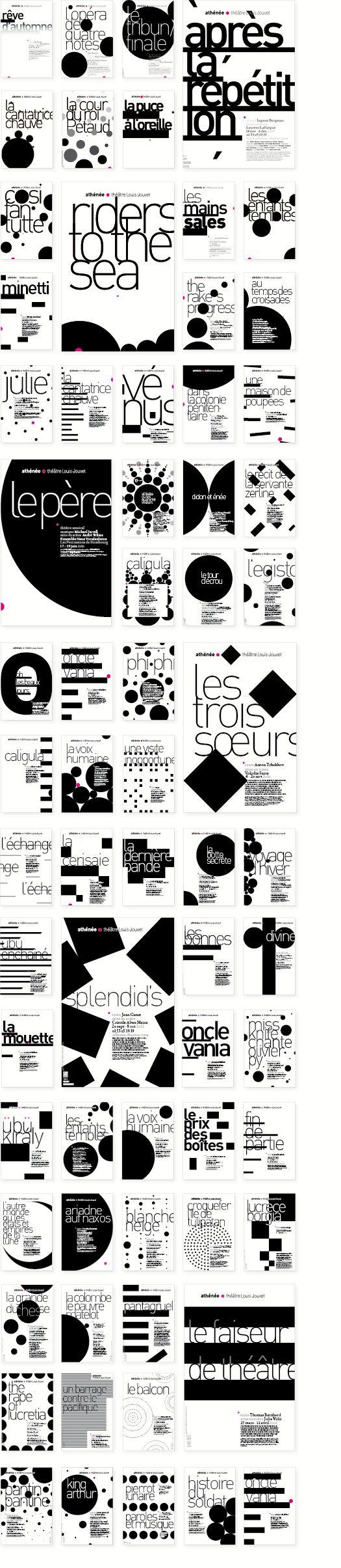nf. Limite qui libère. —Panorama des visuels de spectacles créés pour le théâtre de l'Athénée conçus au long de ces années— avec l'atelier Malte Martin — de 2008 à 2014