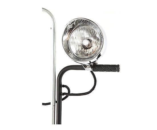 Lampada da pavimento in ferro e gomma con 2 paralumi Tire - h 195 cm