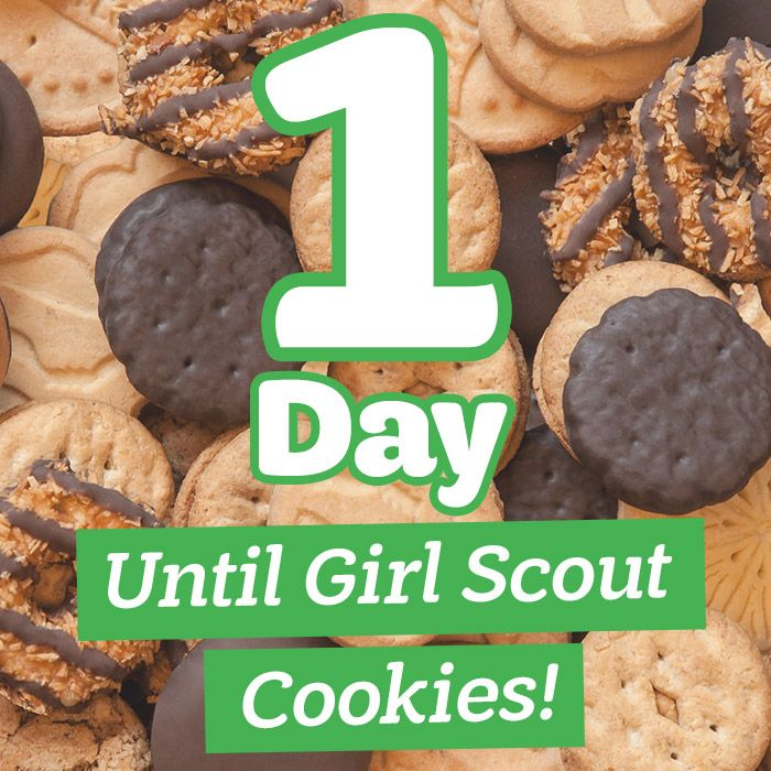 One more sleep until Girl Scout Cookies are back!
