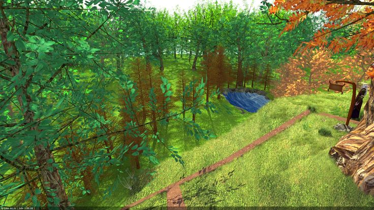 Ağaç ev orman manzarası