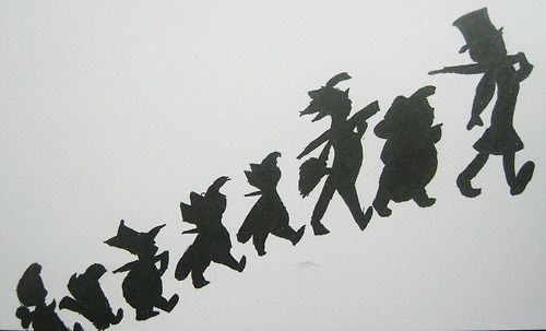 peter pan silhouette   peter pan silhouette drawing black ink white paper john darling ...