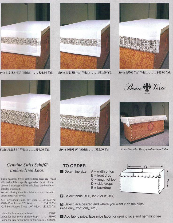 Altar Cloths Altar Table Cloth Pinterest Altars
