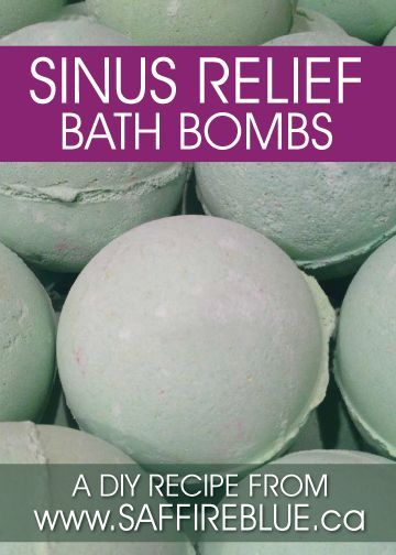 Sinus Relief Bath Bomb Recipe                                                                                                                                                                                 More