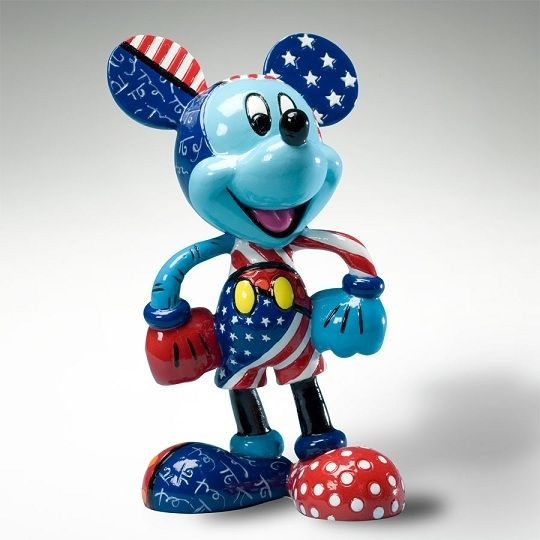 Britto Disney Mickey with Stars and Stripes by jannyshere