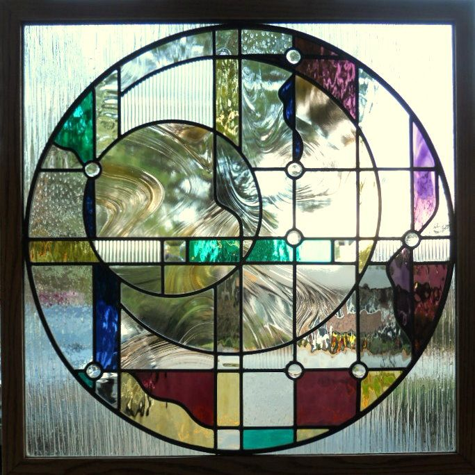 495 best stained glass geometric images on pinterest for Contemporary stained glass