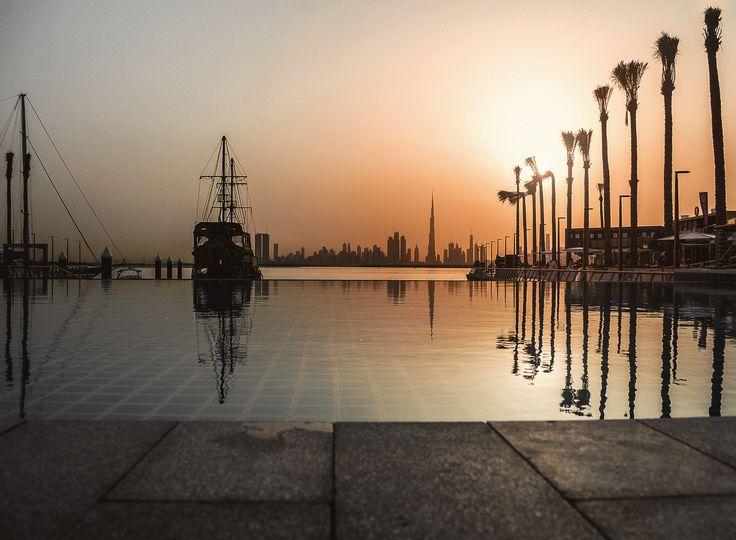 Sunset at the Terrace, Dubai Creek Harbour #evishaindubai