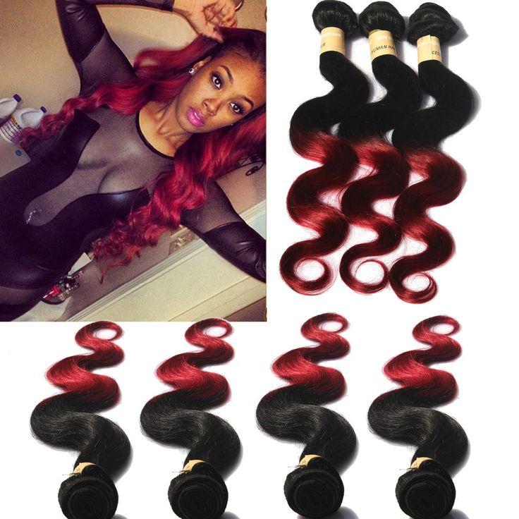 US Local Sale Human Hair Burg Size 16 18 20 Brazilian Extension Pc