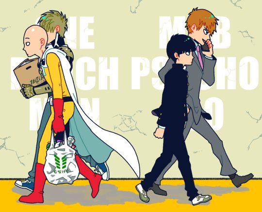 One Punch Man x Mob Psycho 100