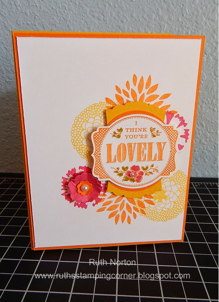 Love this bright color combinationColors Combos, Stampinup Com, Petals Parade, Deco Labels, Stampin Up, Ruth Stamps, Stamps Corner, Artisan Labels, Crushes Curries