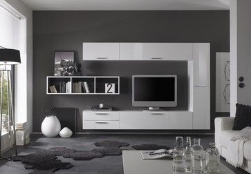 Modern Wall Unit TV Media Entertainment Center Club Composition 2 - $2,146.00 modern